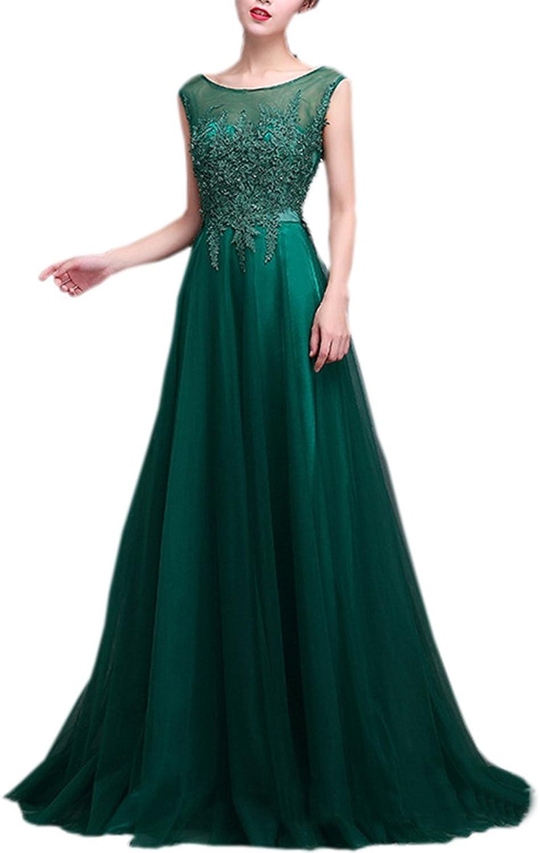 LANG CAI NV MAO Green Long Wedding Dress Round Lace Neck Back V Dress