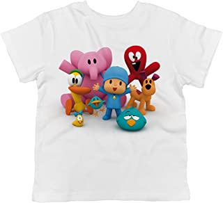 Trunk Candy Pocoyo - Pocoyo and All of His Friends Together 100% Cotton Toddler T-Shirt