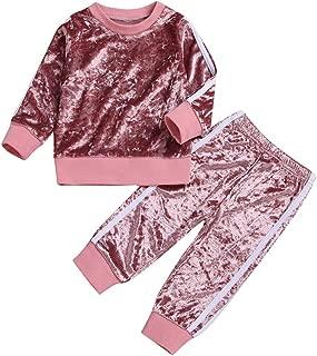 childrens-costumes 2Pcs/Set Fashion Baby Boys Girls Kids Stripe Styles Long Sleeve Tops Pants Outfits Garments