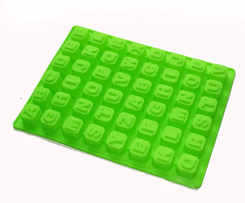 X Haibei 26 Letters Of The Alphabet Square Ice Cube Jelly Chocolate Candy Soap Silicone Mold