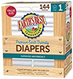 Earth's Best TenderCare Chlorine-Free Disposable Baby Diapers, Size 4 (22-37 lbs), 100 Count