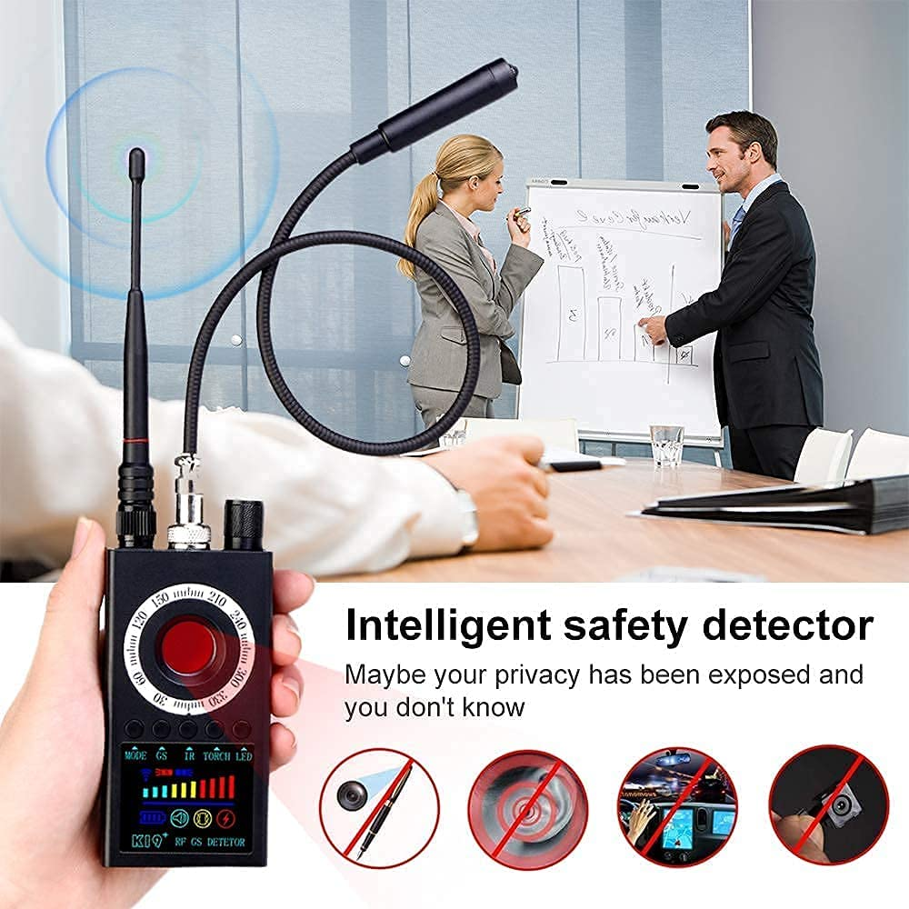 RF Signal Detector Hidden Camera Detector GPS Detector Bug Sweeper Camera Finder for GPS Tracking Electronic Listening Device Hidden Cameras Protect Privacy Counter Surveillance Equipment