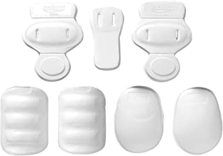 Schutt Sports Slotted Peewee 7-Piece Low Rise Vinyl Football Pad Set - Includes 2 Hip Pads, 2 Thigh Pads, 2 Knee Pads, and Tailbone Pad