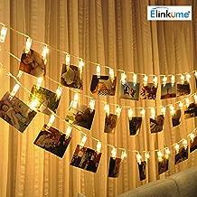 Amazon.es: pinzas con luz para colgar fotos