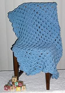 Cozy Size Handmade Baby Blanket (Blue)