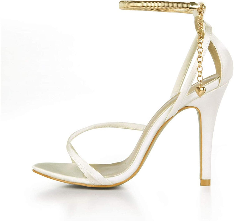 Summer Sexy shoes Woman SM Sandals 11 cm Thin Heels Open Toe Ankle Strap Pumps Plus  35-43
