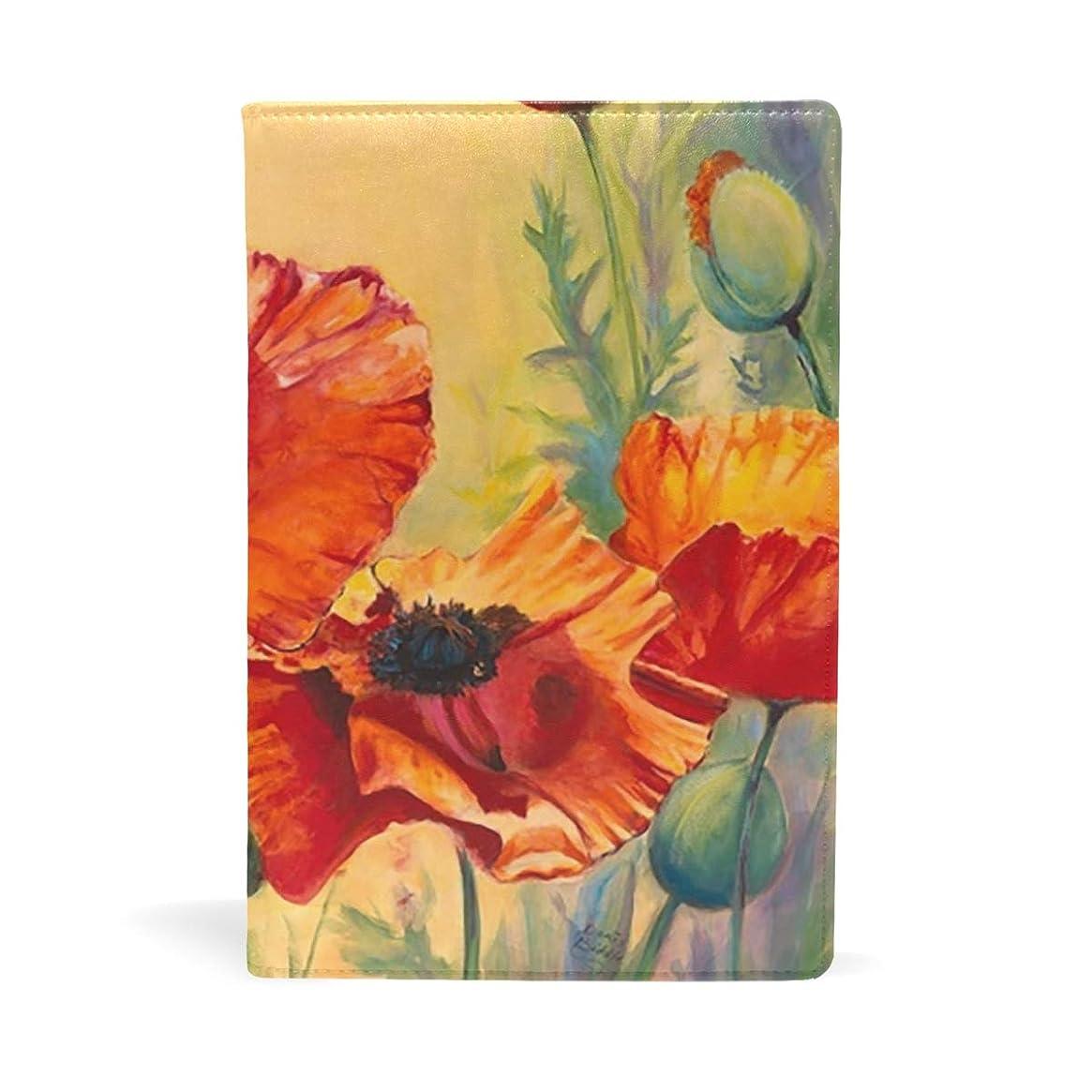 位置づける重力注目すべき花柄 ブックカバー 文庫 a5 皮革 おしゃれ 文庫本カバー 資料 収納入れ オフィス用品 読書 雑貨 プレゼント耐久性に優れ