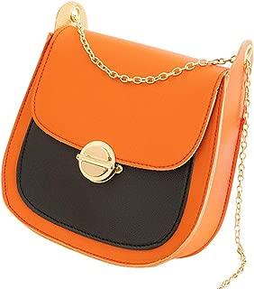 Heyean Shoulder Bag, Crossbody Bag, Saddle Bags Chain PU Covered Type Lock Buckle Single Shoulder Fashion Stylish Messenger Bags
