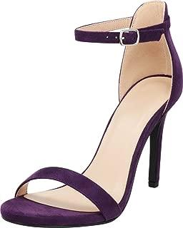 Women's Open Toe Single Band Buckle Thin Ankle Strappy Stiletto High Heel Dress Sandal