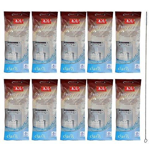 10 x MELITTA PRO Aqua waterfilter + QUVIDO reinigingsborstel