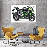 PLjVU Pintura en Lienzo versión Motocicleta Carteles e Impresiones artísticos de Pared decoración del hogar Moderno-Sin marco40x60cm