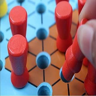 JMWJD 中国のチェッカー、太い蓋付きの木製カラーボード、簡単に運ぶために、ボードゲームパズル ( Color : White , Size : 33.5*30*3.5cm )