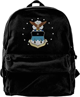 Homyh States Air Force Academy Logo Unisex Classic Canvas Travel School Backpack Fits 14 Inch Laptop