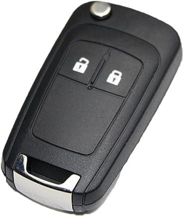 OP-14 Carcasa llave coche LLAVE OPEL PLEGABLE 2 BOTONES ASTRA INSIGNIA