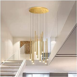 Home-Lightings, Chandelier, LED Lighting Staircase Chandelier Glass Ball Multi-lamp Modern Creative Living Room Chandelier Lamp Villa Ceiling Lamp Duplex Apartment Spiral Staircase Long Chandelier ,Ce