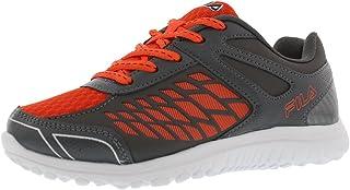 Fila Men's Lightning Strike Shoes 3 M US Little Kid Grey/Orange