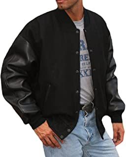 REED Men`s Premium Varsity Leather/Wool Jacket Made in USA