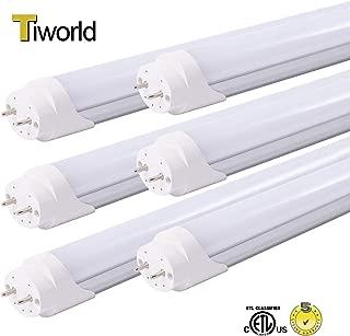 10pcs ETL Listed 5FT T8 LED Tube Light Bulbs 24W 6500K Daylight White T8 LED Lamp Household Lights Bi-Pin G13 Cap Milky Cover 5 Foot T12 Fluorescent Tube lamp Replacement Ballast Bypass Dual-end Power