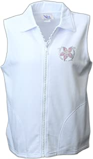 Nitro USA Womens Crystal Zipper Vest with Rhinestone Kentucky Oaks #V104-EQ500S