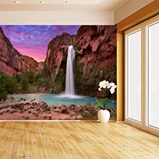 HIMURAL Beautiful Havasu Falls in Havasupai, Arizona, USA Self Adhesive Peel and Stick Wallpaper Self Stick Mural Photos Home Wall Paper Sticker Wall Mural Decals Fresco Posters Removable