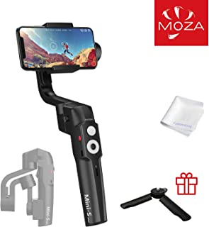 MOZA Mini-S 3-Axis Gimbal Stabilizer for Smartphone iPhone X XR XS Vlog Youtuber Live Video Record Foldable Extendable Gimbal with Timelapse Object Tracking Quick Platback Inception Mode