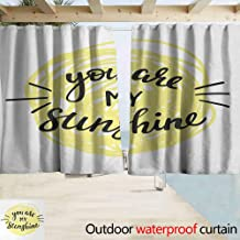 Wlkecgi Doorway Curtain Quote Modern Love Valentines Quote with Hand Drawn Circle Scribbles Romance Symbol Great for Living Rooms & Bedrooms W72 x L84 Light Yellow Black