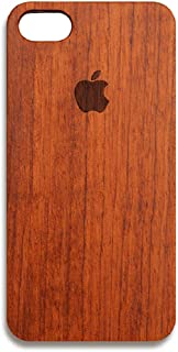 Nurbo iPhone 8 Plus Case, Creative Unique Design Natural Carved Wood Wooden Hard Case for iPhone 8 Plus 5.5 Inch