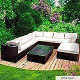 BRAST Poly-Rattan Gartenmöbel Lounge Set 14 Modelle 3 Farben 4-12 Personen Sitzgruppe Luxus Braun