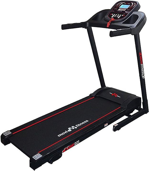 Tapis roulant movi fitness tapis roulant ad inclinazione manuale su 3 livelli. motore da 1,75 hp continuativi MF201