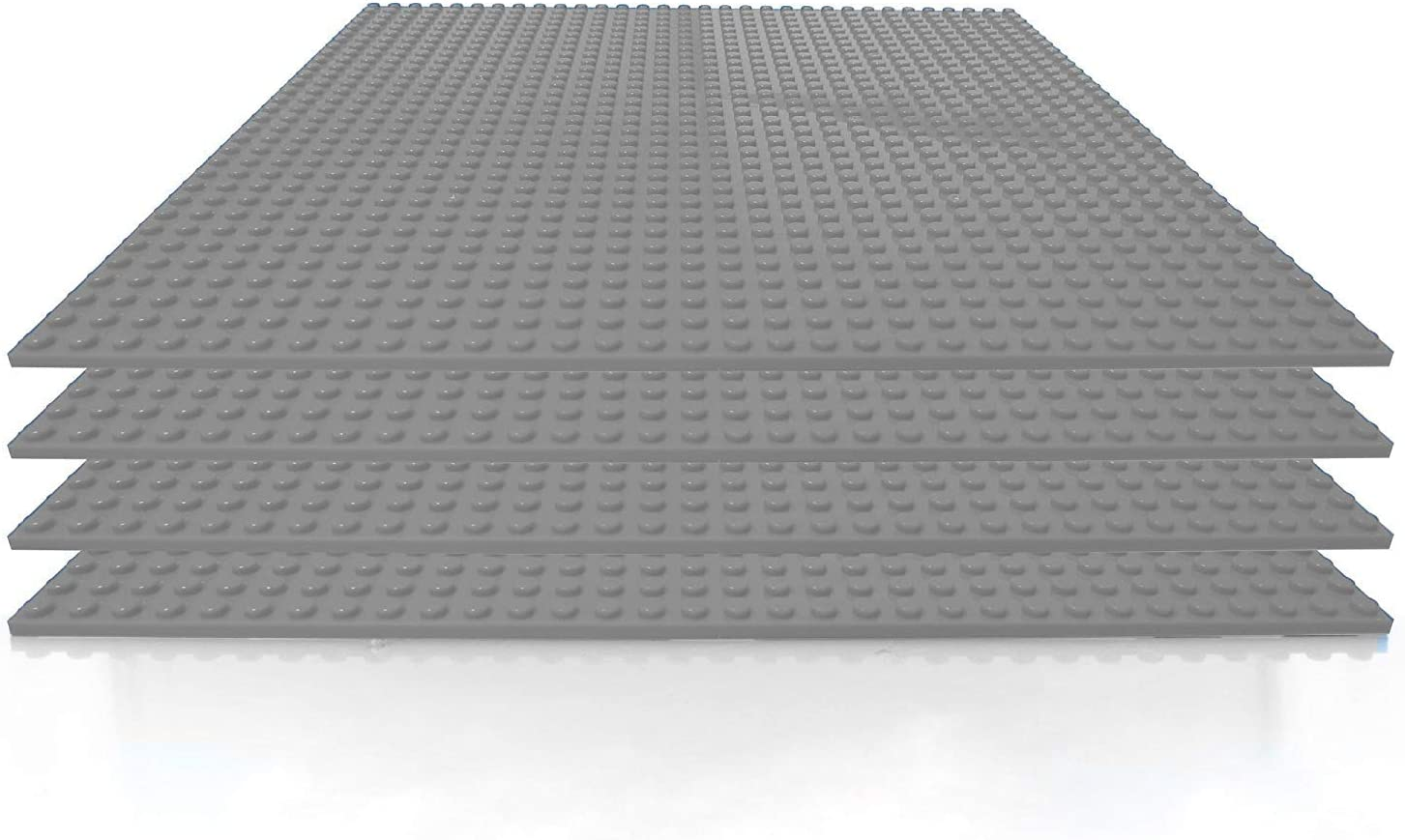 Building Bricks - 10 x Inch Wholesale Gray Pack Stackable Baseplate Award 4