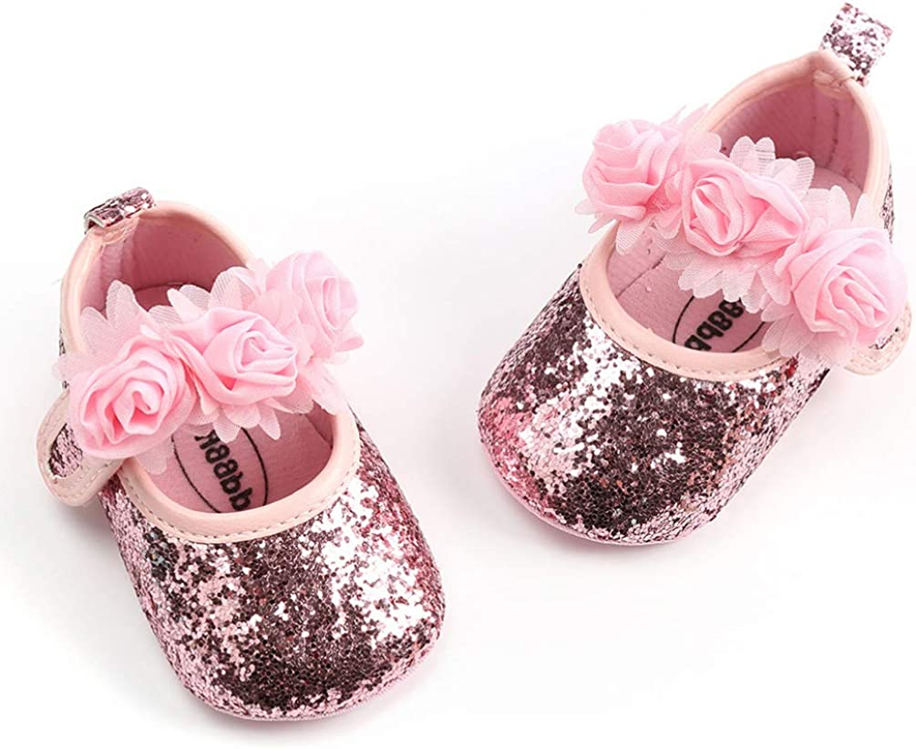 Toyvian Baby Girls Soft Sole Dance Shoes Wedding Princess Dress Shoes Red, 13cm