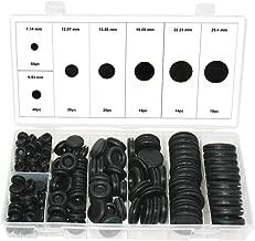 Swordfish 21100-180PC Closed Rubber Grommet Firewall Hole Plug Electrical Wire Gasket Assortment Set, 7 Sizes
