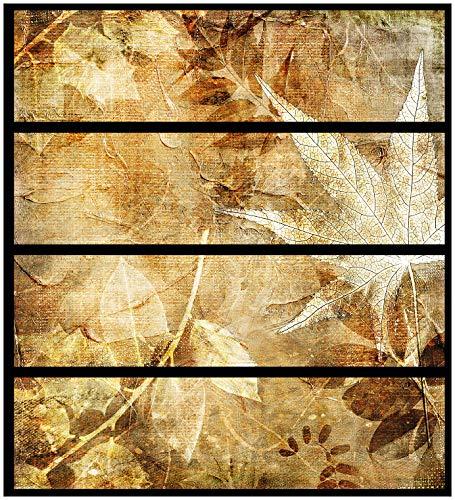 Wallario Möbelfolie/Aufkleber, geeignet für IKEA Malm Kommode - Herbstlaub mit 4 Schubfächern