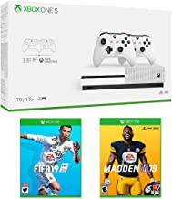 Xbox One S 1TB Bundle with 2 Controllers - Madden 19 & FIFA 19 - 3 Month Xbox Game Pass - White