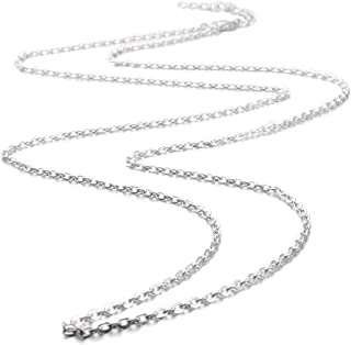 EUDORA Harmony Bola Accessories Silver Plated Chain/Wax Leather Cord 20/24/30/45 Inches Necklace