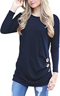 Yincro Women's Casual Long Sleeve Tunic Tops Fall Tshirt Blouses