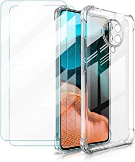 Zhuofan For Xiaomi Redmi Note 6 Pro Case + [2 Pack] Tempered Glass Screen Protector, Ultra Thin Silicone Transparent TPU C...
