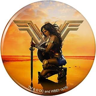"""Wonder Woman Movie Poster Pinback Button Pin Badge - 2.25"""" Diameter"""