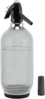 Behind The Bar Glass Soda Siphon with Metal Mesh - 1 Liter