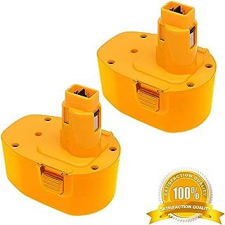 2Pack 3.0Ah 14.4V DC9091 Battery for DeWalt 14.4-Volt XRP Battery DC9091 DW9094 DW9091 DE9038 DE9091 DE9092 DE9094 DE9502 Compatible with DeWalt 14.4Volt Ni-Mh Batteries