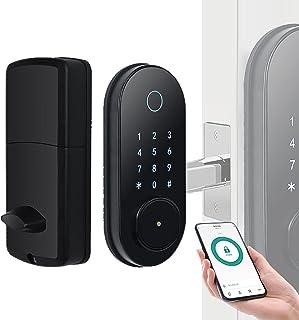 Vingerafdruk Deurslot Smart Lock ,Eenvoudig Te Installeren ,Wifi Deurslot, Bluetooth-App Ttlock Remote Unlock Keyboard Pas...