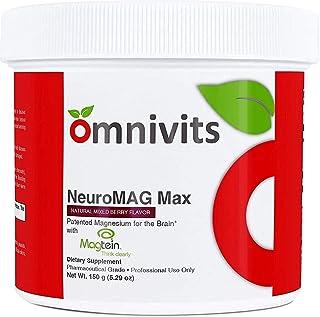 Omnivits Neuro MAG Max Natural Mixed Berry Flavor | Optimized Magnesium for Brain & Body | Magnesium Chelate Albion Di-Mag...