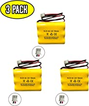 (3 Pack) Lowes 253799 OSA230 LEDR-1 AA900MAH Unitech 6200RP 3.6v 700mah Exit Sign Emergency Light NiCd Battery Replacement