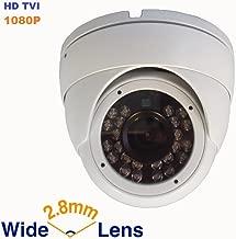 Gawker G1085QHDW Sony Sensor Turret Dome CCTV Camera, 1080P HD-TVI(Default) AHD/CVI and CVBS outputs Optional. IP66 Weather Proof, 2.8mm Wide Angle Lens, IR Smart, White Color Metal case, DC12V.