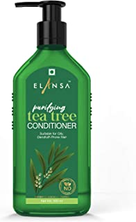 Elansa Purifying Tea Tree Conditioner - No Parabens, Color, Mineral Oil and Silicones, 300 ml