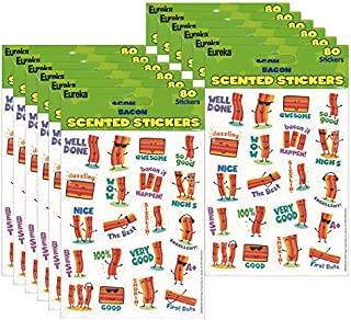 (12 PK) Bacon Stickers Scented
