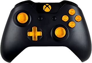 Gold 9MM Xbox One Modded Controller with all Metal Bullet Buttons, Dpad and Thumbsticks, Works On All Games