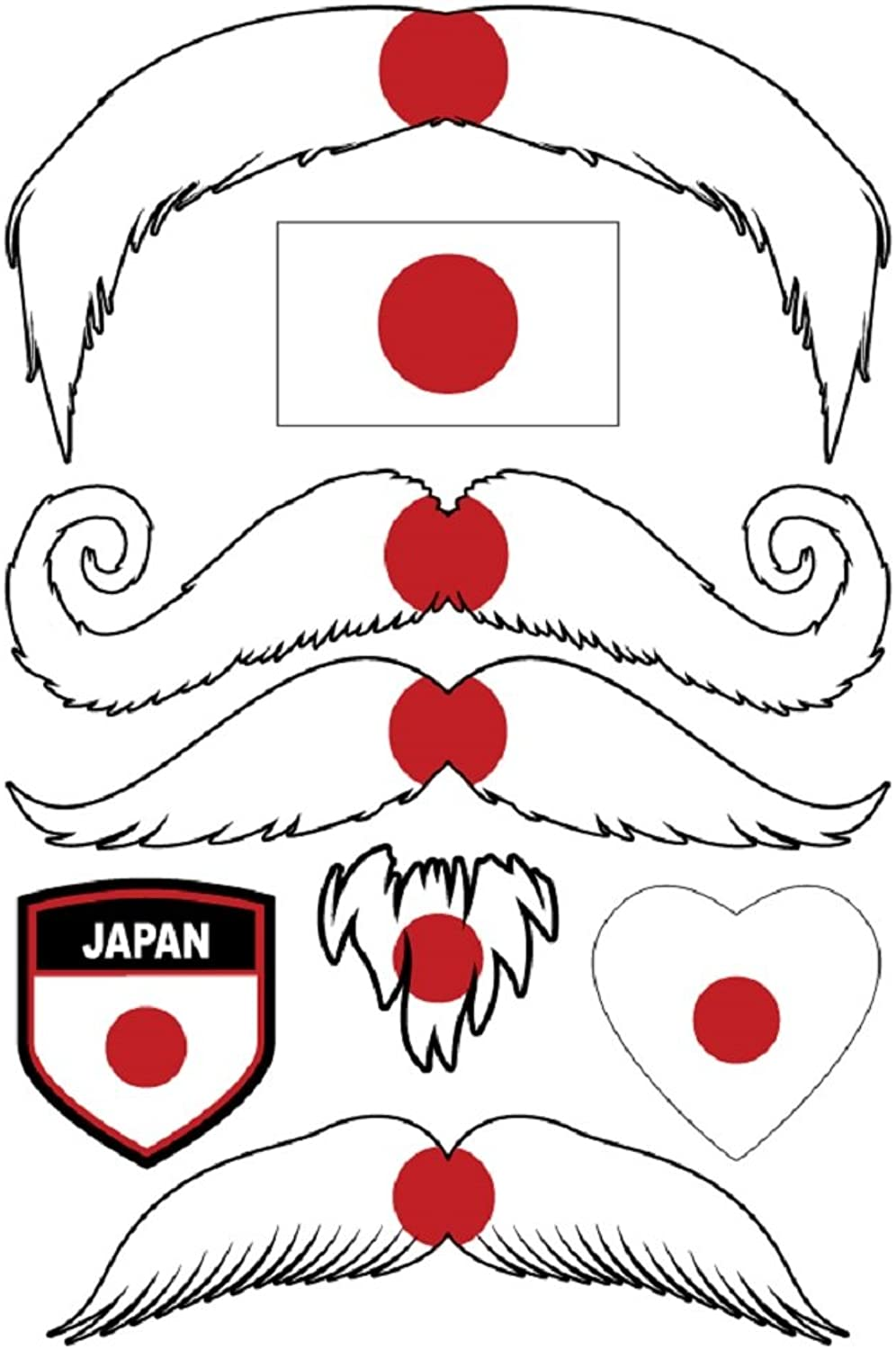 StacheTATS Japan Temporary Mustache Tattoos
