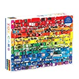 Galison 1000 Piece Rainbow Toy Cars Jigsaw Puzzle for Families and Adults, Finished Puzzle is a Unique Rainbow Image, Photo Art Puzzle Includes Varying Colors and Sizes of Toy Cars, Multicolor