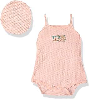 Baby Shoora Letter-Print Glitter-Detail Spaghetti Straps Bodysuit with Hat for Girls